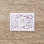 Modern Laser Cut save the date wedding stationery card design