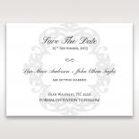 Neo Classic save the date invitation card