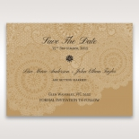 Rustic Charm save the date wedding stationery card
