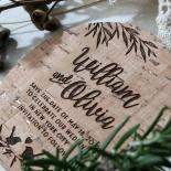 Springtime Love save the date invitation stationery card design