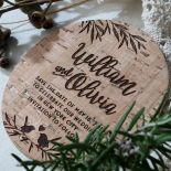 Springtime Love save the date wedding stationery card design