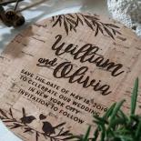 Springtime Love save the date invitation card