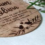 Springtime Love save the date invitation stationery card