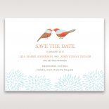 Two Hearts wedding save the date stationery card