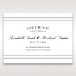 Unique Grey Pocket with Regal Stamp wedding stationery save the date card