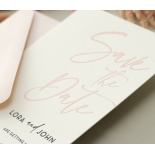 Blush Peach Save Our Date - Wedding Invitations - WP-CR14-SD-BL-2 - 179026