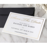 Gold and Black Save the Date - Wedding Invitations - WP-CR15-SD-KI-G - 179002
