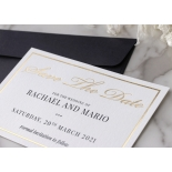 Gold and Black Save the Date - Wedding Invitations - WP-CR15-SD-KI-G - 179000