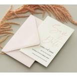 Blush Peach Save Our Date - Wedding Invitations - WP-CR14-SD-BL-2 - 179027