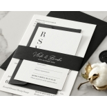 Sophisticated in Grey Letterpress - Wedding Invitations - WP-IC55-LP-01 - 178800