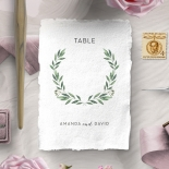 Country Garland reception table number card design