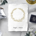Enchanted Wreath reception table number card