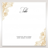 Imperial Glamour without Foil wedding venue table number card stationery design