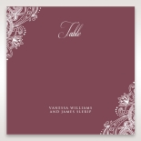 Imperial Glamour without Foil wedding venue table number card stationery