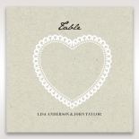 Letters of love wedding reception table number card stationery design