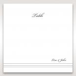 Marital Harmony wedding table number card design