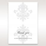 Classic Ivory Damask wedding thank you stationery card item