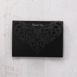 Elegance Encapsulated Laser cut Black thank you wedding stationery card