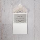 Elegance Encapsulated thank you invitation card