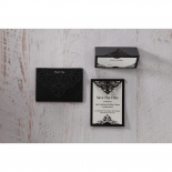 Elegant Crystal Black Lasercut Pocket wedding stationery thank you card
