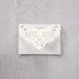 Elegant Crystal Lasercut Pocket thank you wedding card