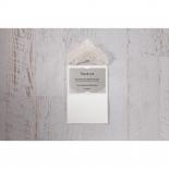 Elegant Crystal Lasercut Pocket thank you wedding card design