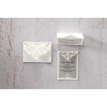 Elegant Crystal Lasercut Pocket thank you wedding stationery card