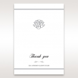 Elegant Seal wedding stationery thank you card