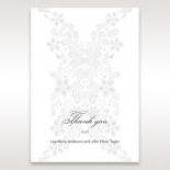 Enchanting Ivory Laser Cut Floral Wrap thank you card