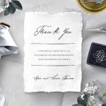 Everlasting Devotion thank you wedding card design