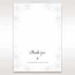Floral Cluster thank you stationery card