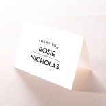 Frosted Chic Charm Paper wedding stationery thank you card