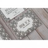 Glitzy Gatsby Foil Stamped Patterns wedding stationery thank you card design