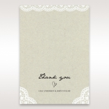 Letters of love wedding thank you stationery card