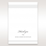 Marital Harmony wedding thank you card design