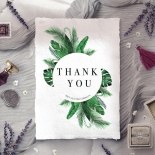 Palm Leaves thank you wedding stationery card design