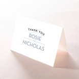 Silver Chic Charm Paper thank you wedding card