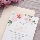 Gold and Floral Triplex Invitation - Wedding Invitations - WP306GG - 178344