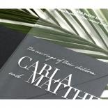 White Ink on Modern Acrylic  - Wedding Invitations - BON-CRLA - 178315