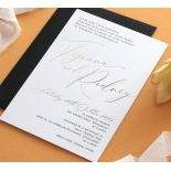 Gold Foil and Black Print Triplex - Wedding Invitations - WP-TP01-GG-01 - 178956