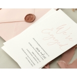 Blushed We're Engaged  - Wedding Invitations - WP-IC55-LP-12 - 179062