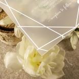 Acrylic Art Deco Wedding Invite Card Design