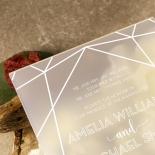 Acrylic Art Deco Wedding Invite Design