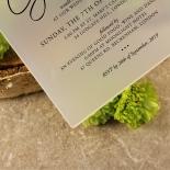 Acrylic Diamond Drapery Stunning invitation card