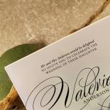Acrylic Timeless Romance Stationery card
