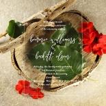 Acrylic Timeless Simplicity Wedding Invite Card Design