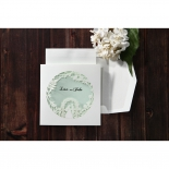 Aisle designed cover invitation pocket style with blue and white theme