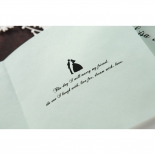 Wedding card insert personalised with couple images and verse