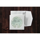 Garden wedding cut out patterned white invitation