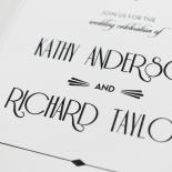Art Deco Romance Stationery card design